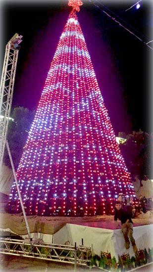 Рождественская ёлка в Вифлееме. Декабрь 2017 года