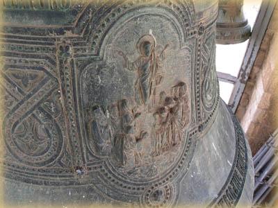 Горельеф Вознесения на Елеонском колоколе