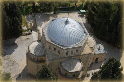 Вид на купол восьмерика Вознесенского храма с колокольни