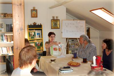 Елена Румановская читает лекцию в офисе ИППО