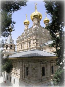Русский храм св.Марии Магдалины в Гефсиманском саду в Иерусалиме