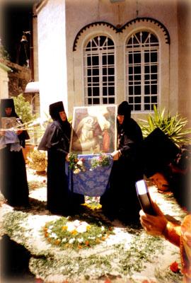 """Встреча чудотворной иконы """"Благовещения"""" в Горненском монастыре"""