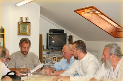 Игорь Трибельский в офисе Иерусалимского отделения ИППО
