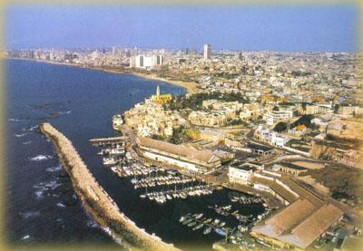Вид на старую Яффу с высоты птичьего полета