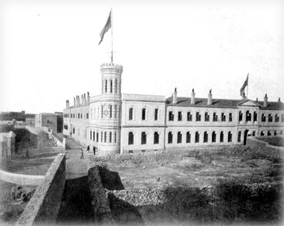 Здание Сергиевского подворья в 19-м веке. Общий вид.