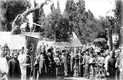 Молебен у дуба Мамврийского в Хевроне