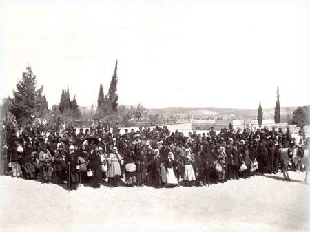 Караван паломников готов к отбытию из Яффы в Иерусалим