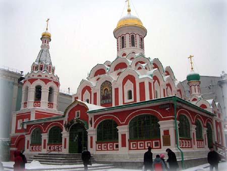 Возрожденный Казанский собор в Москве